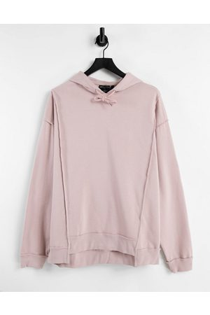 ASOS DESIGN Co-ord oversized hoodie with seam detailing in pink