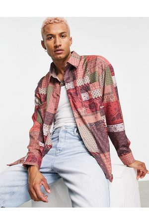 Mennace Long sleeve shirt co-ord in multicoloured patchwork print