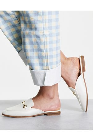 Accessorize Backless loafer in white