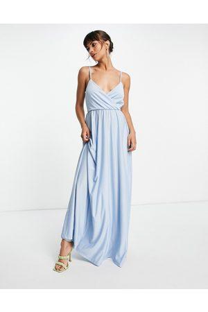 Little Mistress Bridesmaids maxi dress in blue