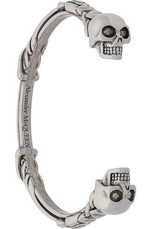 Alexander McQueen Men Bracelets - Twin skull bracelet