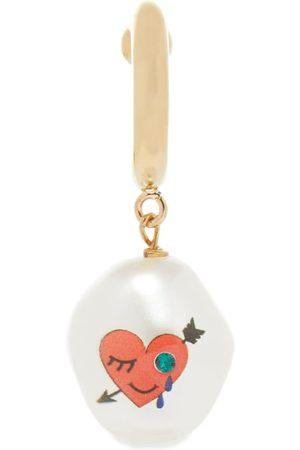 Saf Safu Men Earrings - Heart Cotton Candy Earring