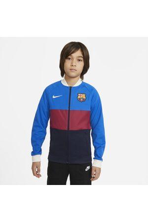 Nike F.C. Barcelona Older Kids' Full-Zip Football Tracksuit Jacket