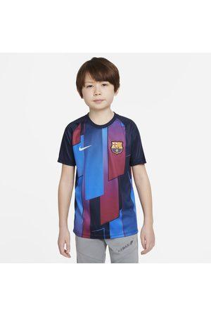 Nike F.C. Barcelona Older Kids' Pre-Match Short-Sleeve Football Top
