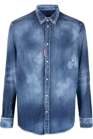 Dsquared2 Men Denim - Distressed effect denim shirt
