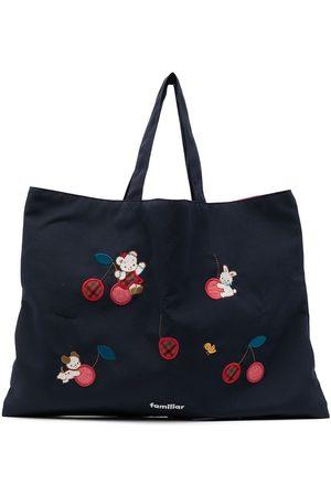 Familiar Girls Bags - Embroidered-patch shoulder bag