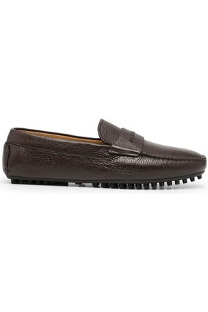 Emporio Armani Men Loafers - Pebbled-leather driving shoes