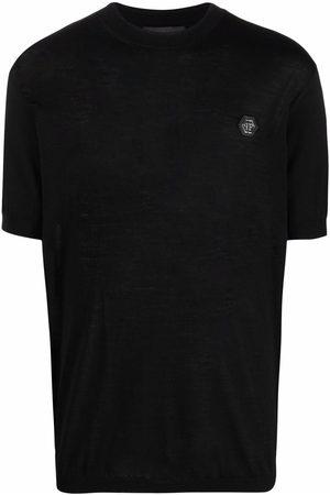 Philipp Plein Logo-plaque merino T-shirt