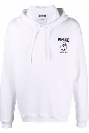 Moschino Double Question Mark logo-print hoodie