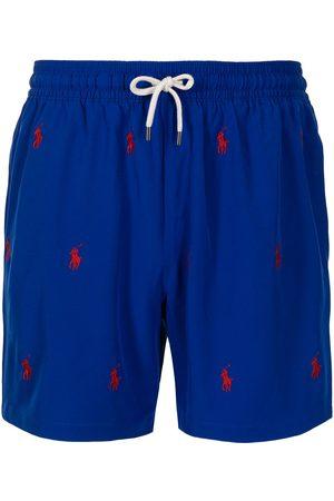 Polo Ralph Lauren Men Board Shorts - Logo-embroidered swim shorts