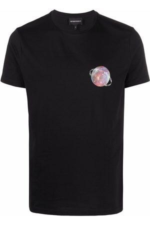 Emporio Armani Men Short Sleeve - Graphic-print cotton T-shirt