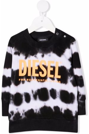 Diesel Sweatshirts - Tie-dye print cotton sweatshirt