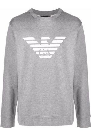 Emporio Armani Men Sweatshirts - Logo-print crew-neck sweatshirt