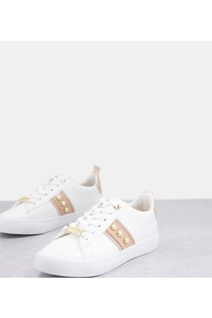 Miss KG Wide Fit pearl sneakers in blush-Neutral