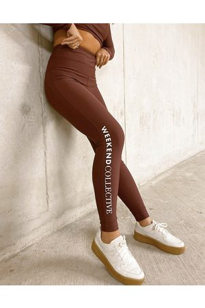 ASOS Weekend Collective Co-ord legging in matte stretch in brown