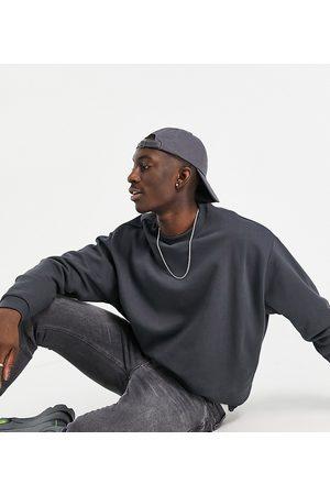 ASOS Men Sweatshirts - Oversized sweatshirt in washed black