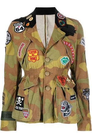 Dsquared2 Women Jackets - Patchwork military jacket