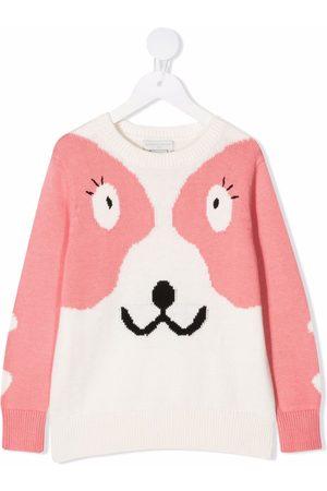 Stella McCartney Girls Sweaters - Doodle dog jumper