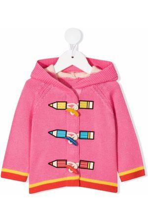 Stella McCartney Kids Cardigans - Pencil intarsia cardigan