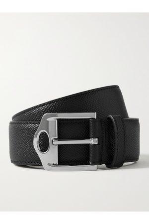 Burberry Men Belts - 3.5cm Pebble-Grain Leather Belt