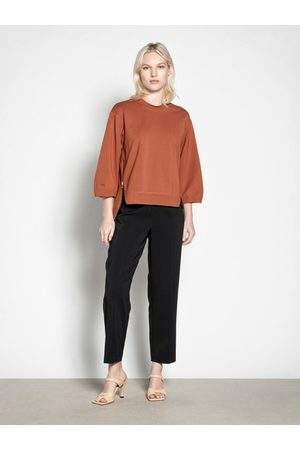 Veronika Maine Women Formal Pants - Stretch Twill Button Tapered Pant
