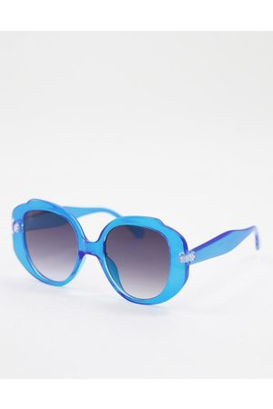 Jeepers Peepers Women's round sunglasses in blue