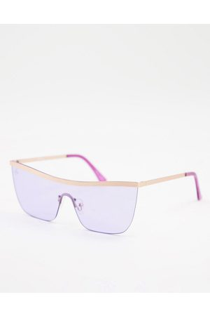 Jeepers Peepers Womens flat brow sunglasses in purple