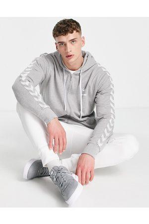 Hummel Classic chevron zip hoodie in grey