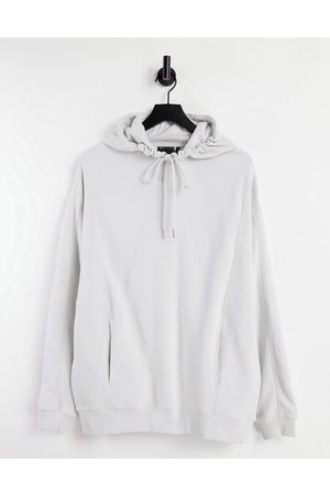 ASOS Co-ord oversized hoodie with panel detail in grey rib
