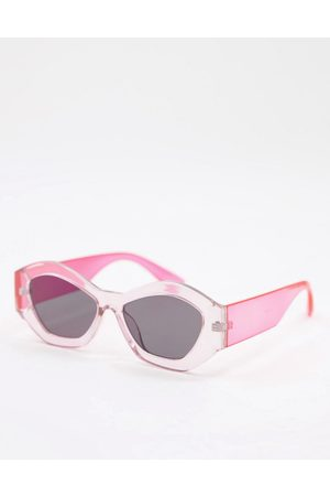 Jeepers Peepers Womens round sunglasses in pink