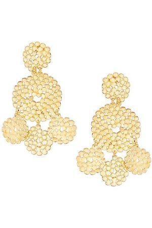 Gas Bijoux Lucky 24K Goldplated Medallion Drop Earrings