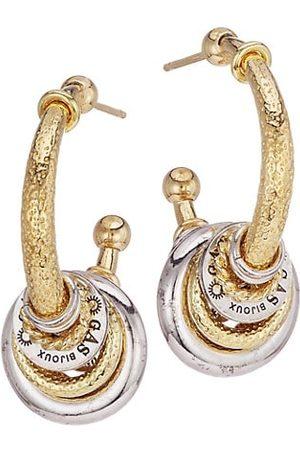 Gas Bijoux Maranzana Two-Tone Hoop Earrings