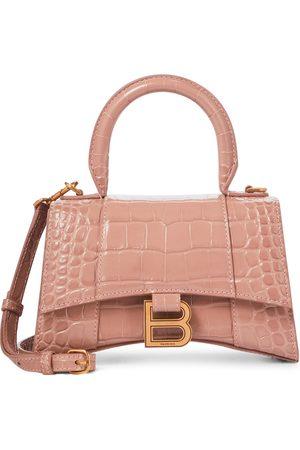 Balenciaga Women Shoulder Bags - Hourglass XS croc-effect leather tote