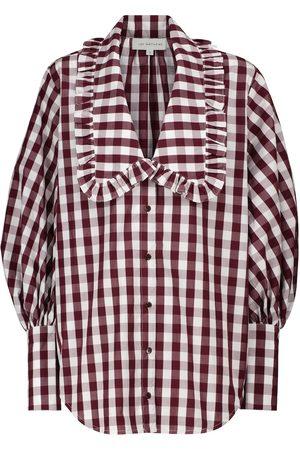 Lee Mathews Women Blouses - Gingham cotton blouse