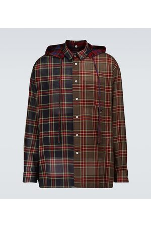 Loewe Checked hooded shirt