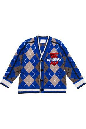 Burberry Boys Cardigans - Argyle wool-blend cardigan