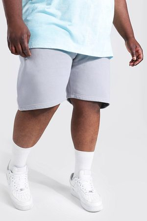Boohoo Mens Slate Plus Size Ombre Detail Tie Dye Jersey Shorts