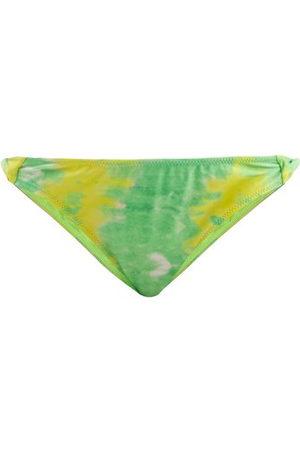 Ganni Abstract-print Recycled-fibre Bikini Briefs - Womens - Multi