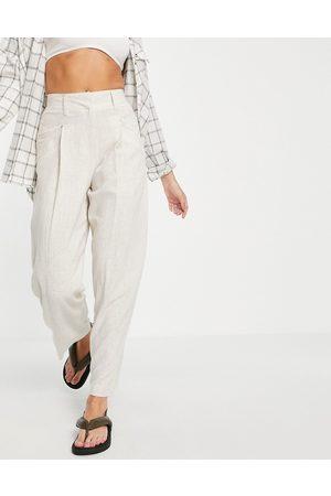 Topshop Linen pants in beige-Neutral