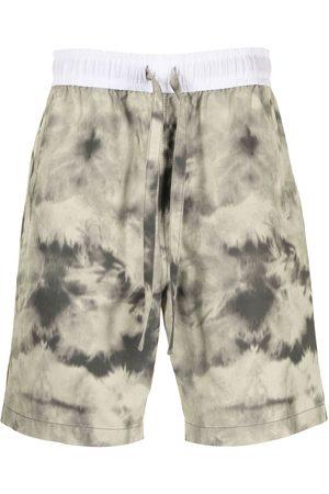 Ports V Tie-dye print shorts