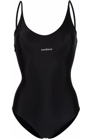 Soulland Women Swimsuits - Adel logo-print swimsuit