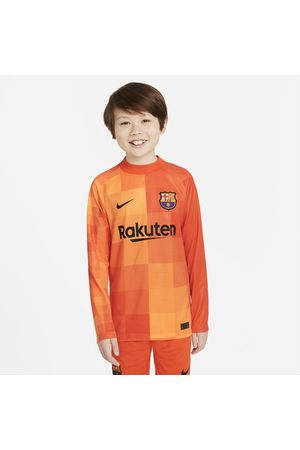 Nike Long sleeves - F.C. Barcelona 2021/22 Stadium Goalkeeper Older Kids' Long-Sleeve Football Shirt