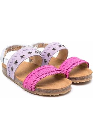 Pèpè Two-tone buckled sandals