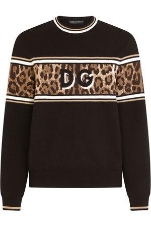Dolce & Gabbana Men Sweatshirts - Leopard-print jumper