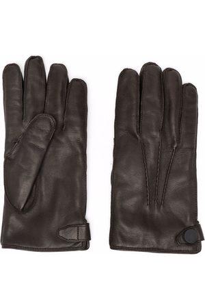 BILLIONAIRE Men Gloves - Perforated-detailing leather gloves