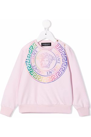 Versace Kids Medusa logo-print crewneck sweatshirt