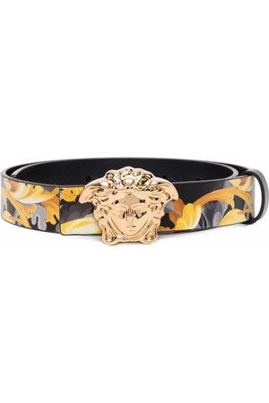 Versace Kids Medusa Head Baroccoflage-print leather belt