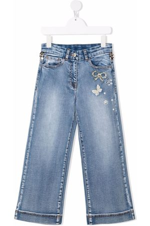MONNALISA Girls Jeans - Mid-rise flared jeans