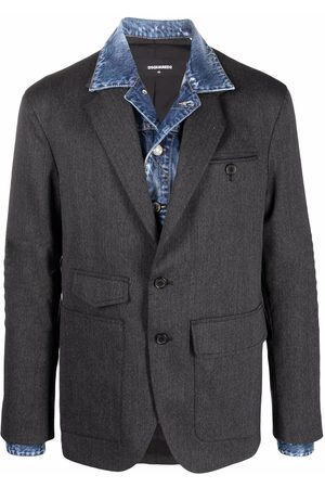 Dsquared2 Layered-effect single-breasted blazer