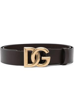 Dolce & Gabbana Logo-buckle leather belt